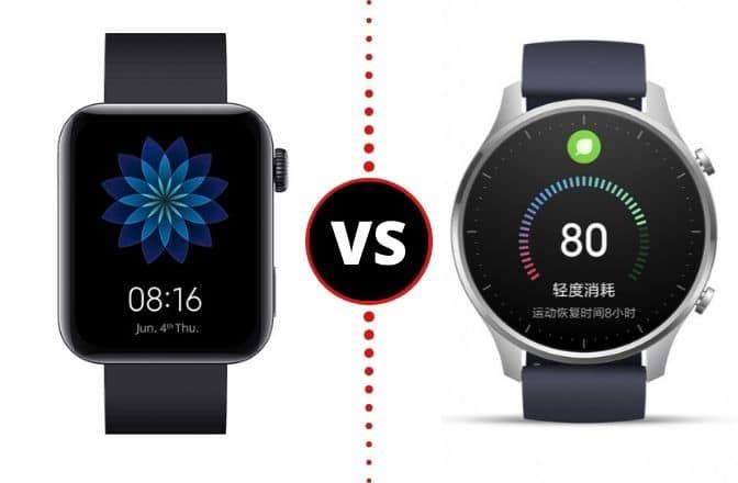 Xiaomi Mi Watch VS Xiaomi Mi Watch Color (Imagen más Pequeña)