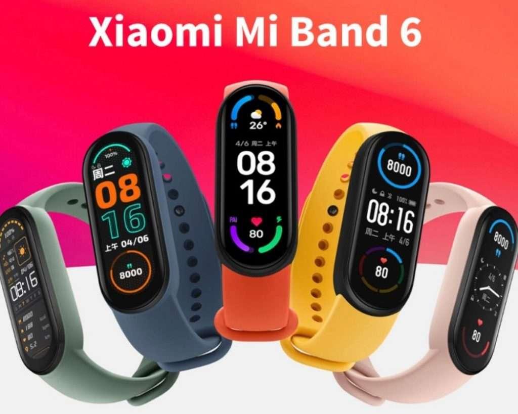 Xiaomi Mi Band 6 en diferentes colores